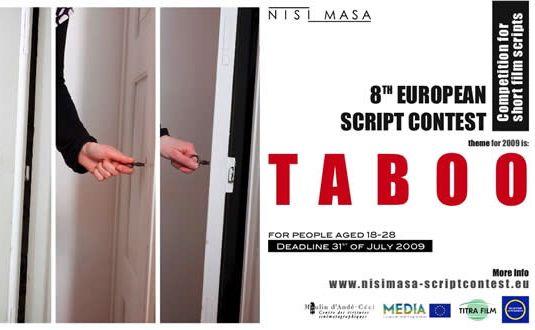 Le 8ème concours européen de scénario Nisi Masa est lancé. Son thème : le tabou