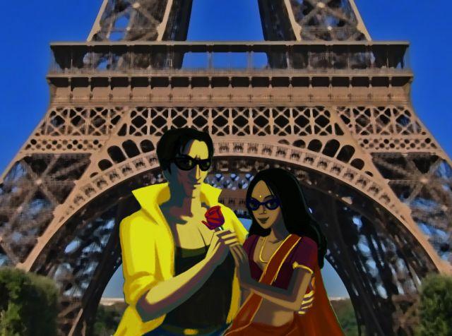 Salim and kamala at Eiffel tower(1)