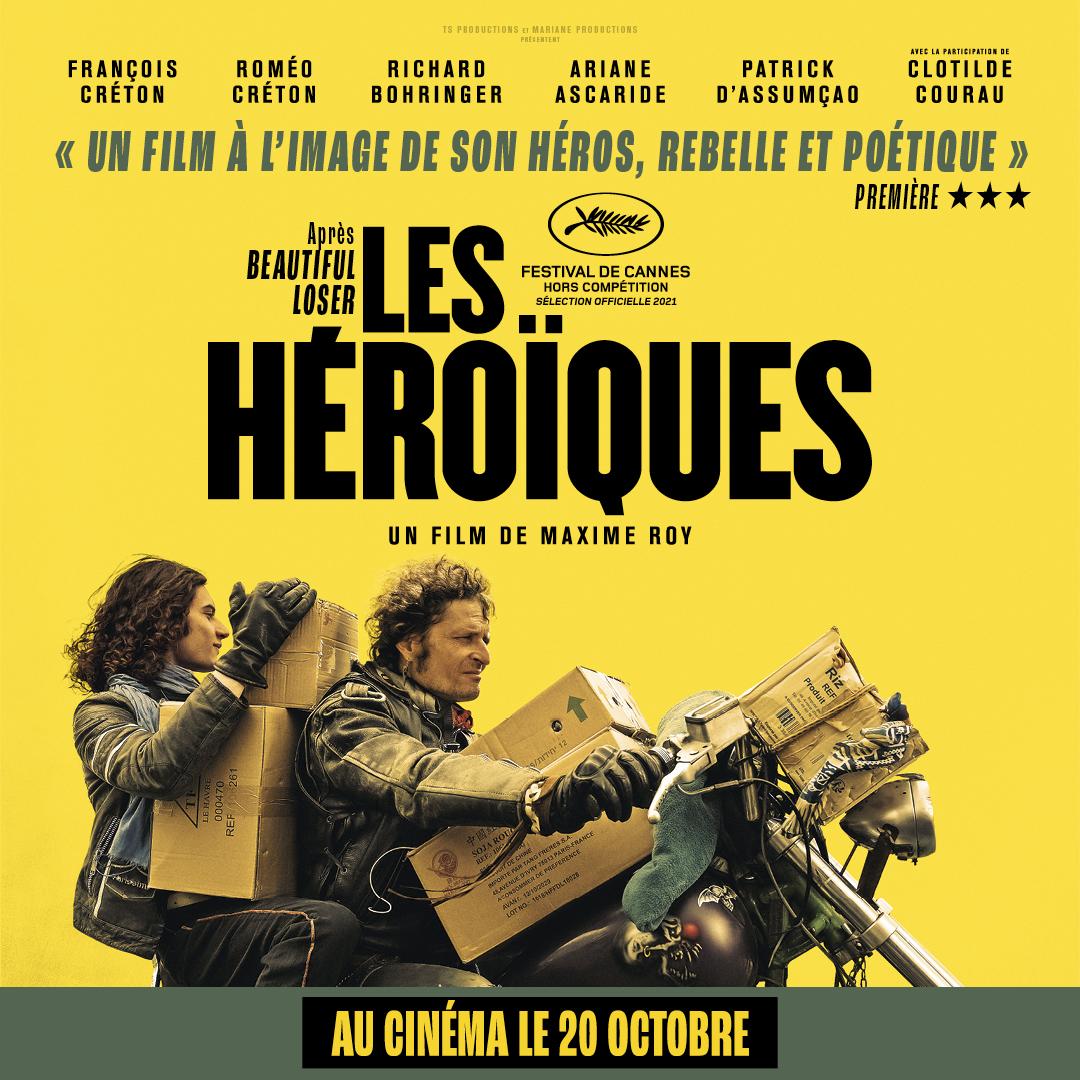 Sortie de «Les Héroïques» de Maxime Roy, ce mercredi 20 octobre 2021